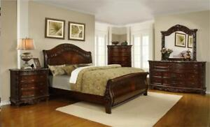 BEDROOM SET WITH MARBLE TOP CASE GOODS ON HUGE SALE!!! CALL 4167437700 WWW.AERYS.CA