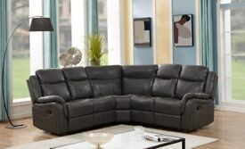 Grey Corner Leather Recliner on Affordable price