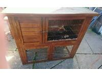 Rabbit and double hutch