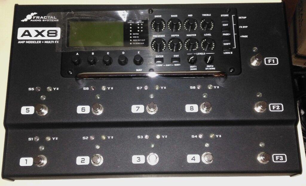 Fractal Audio AX8 Multi FX +Amp Modeller pedalboard | in Trafford,  Manchester | Gumtree