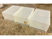 3 stackable compact Muji storage drawers
