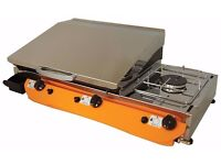 Lpg Griddle Barbecue Hot Plate 51x40 cm With Cooker 3kw Professional