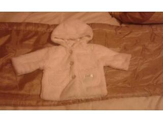 Baby patch boutique collection, white fur coat, excellent clean as new condition!
