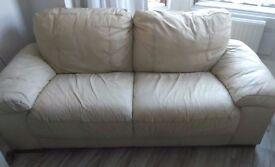 Basic Two-seater Cream Sofa