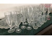 Large selection of drink glasses (about 30)