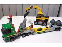 LEGO City Excavator Transporter 4203 - complete