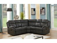 🛑🔴 LEATHER RECLINER SOFA, IN GREY COLOR 2 SEATS CUP HOLDER ONLY 649GBP