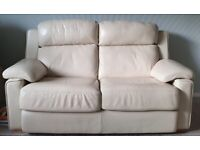 2 leather 2-seater John Lewis sofas and armchair