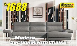 Modern Sectional with Chaise Only $1688