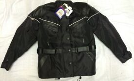 Motorcycling Jacket Brand New Cordura and Leather Waterproof
