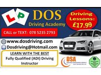 MANUAL QUALITY DRIVING LESSONS. £17.99 PER HOUR