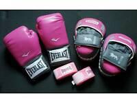 Woman's boxing training set