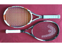Two Tennis Rackets Head And Dunlop Grip 4/5