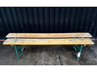 Vintage Rustic Folding Pine Benches (1 left)