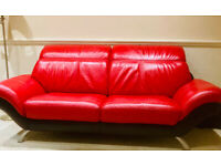 Luxury Leather 3 Seater Sofa With Multi-Position Adjustable Headrests – Free Delivery
