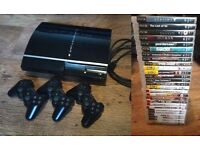 Original PS3 with issues - 3 controllers - 29 games - headset - etc £75 ono