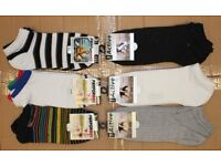 New 480 Pairs Mens Assorted Designs Trainer Liner Sport Socks (3 Packs) Clearance Car Booter Job Lot