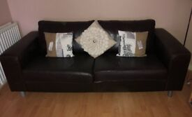 Brown Leather Sofa - still available