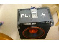 EDGE SUBWOOFER WITH FLI AMPLIFIER AND CABLES