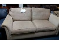 Attractive Large 2 seater Sofa neutral/waffle chenille