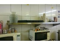 Stainless steel catering shelf