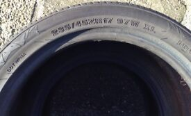 Tyre,Part Worn,235/45/ZR17 97W XL,has roughly 4mm tread remaining.