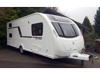 Swift Challenger 586 Touring Caravan 2014 - Excellent condition - 6 Berths - Fixed Bunks - R Dinette