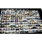 NEW 50pcs MIX LOT Stainless Steel rings Wholesale Men Women Fashion Jewelry lot