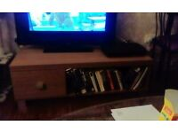 Sturdy TV stand with deep drawer, great condition