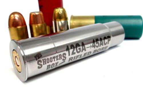 12GA to 45ACP RIFLED Shotgun Adapter - Chamber Reducer - Stainless - Free Ship!