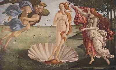 A4 Photo Botticelli Sandro The Birth of Venus The Worlds Greatest Paintings 1934