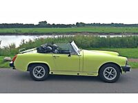 MG Midget 1500cc Yellow – Perfect for summer fun