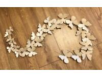 M&S Metal Butterfly Wall Art. EXCELLENT CONDITION