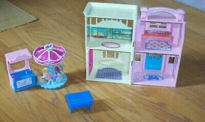 Fisher Price Sweet Streets Pet Shop/Beauty Salon House + Carousel/Ticket Booth +