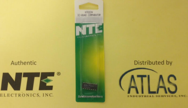NTE NTE834 IC, Low Power, Low Offset Voltage, Quad Comp