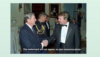 Donald Trump Meets Ronald Reagan PHOTO President White House