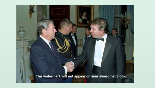 Donald Trump Meets Ronald Reagan PHOTO President White House