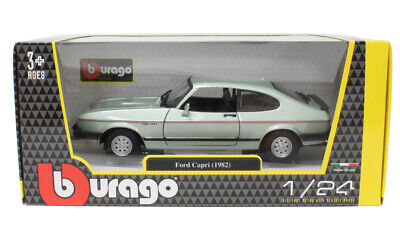 1:24 Ford Capri 2.8i by Bburago in Metallic Green 18-21093