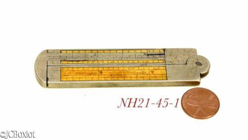 old antique small mini STEPHENS 97 1/2 6 inch rule ruler tool caliper
