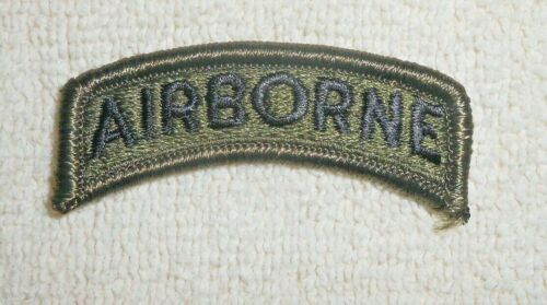 US ARMY PATCH LOT OF 20 PATCHES  - AIRBORNE TABS - OD Green