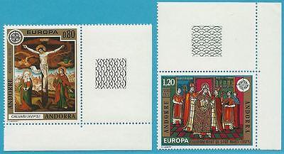 Andorra (Franz. Post) aus 1975 ** postfrisch MiNr.264-265 Eckrand - Europa!