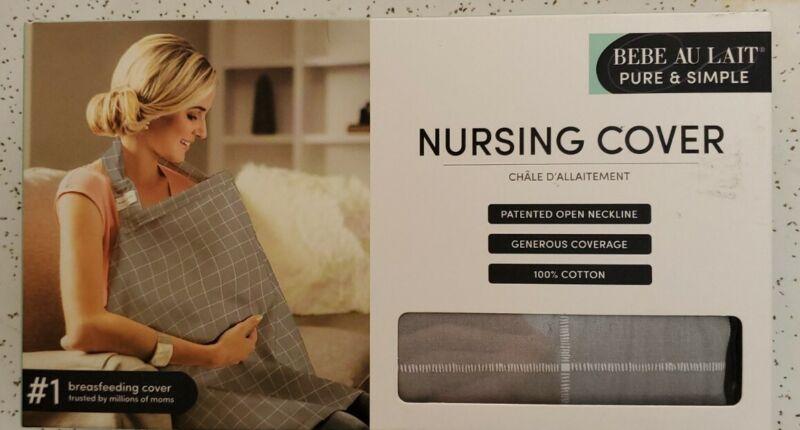 BeBe Au Lait Nursing Cover Gray Checkered NIB