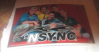 NSYNC STICKER NEW 2000'S VINTAGE RARE COLLECTIBLE TIMBERLAKE BASS CHASEZ FATONE