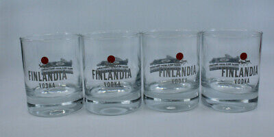 Finlandia Vodka  West Mclaren Mercedes F1 Bar Drinking Glass Finland Set of 4 for sale  Canada