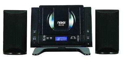 NAXA WALL MOUNT COMPACT SHELF STEREO BLUETOOTH SYSTEM CD PLAYER AM/FM RADIO AUX