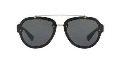 NWT Versace 4327 Sunglasses GB1/87 Black / GREY LENS AUTHENTIC 57 MM AUTHENTIC