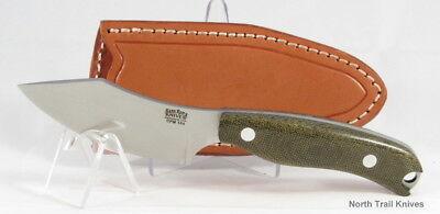 Bark River Knives JX6 Companion, CPM 154, Green Canvas Micarta, EDC, Hike, Hunt