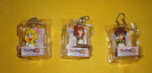 Sakura Wars 2 Keychain 1998 Sega Figure Lot of 3 Iris, Kohran, Sumire