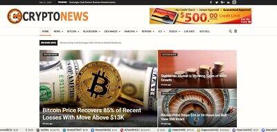Automated Wordpress Bit Coin Crypto News Website-turnkey Profitable Site