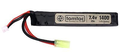 AIRSOFT BATTERY 7.4V 20C 1400 MAH  LIPO MINI TAMIYA TOMTAC